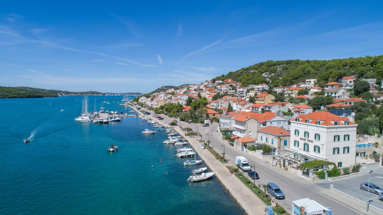Hotel Tisno Aerial View
